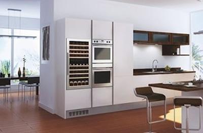 Vinkyl monterad i ett kök